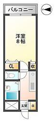塚口タイニープラザII[502号室]の間取り