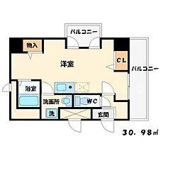 ヴァンルノワール新御堂[8階]の間取り