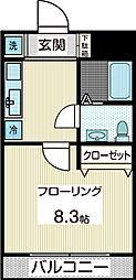 リッツレーブ[2階]の間取り