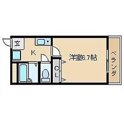 ビエントまかみ[3階]の間取り
