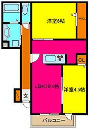 d−room横小路[108号室]の間取り