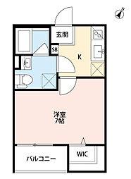 兵庫県尼崎市次屋2丁目の賃貸アパートの間取り