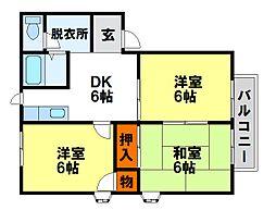 メゾン西田[2階]の間取り