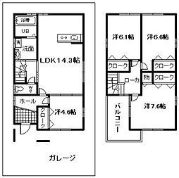 [一戸建] 大阪府岸和田市南上町2丁目 の賃貸【/】の間取り