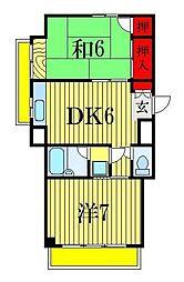 ベラージュ西船[6階]の間取り