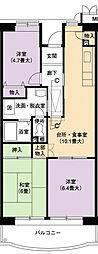 URアーバンラフレ小幡2号棟[5階]の間取り
