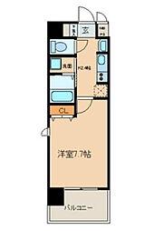 愛知県名古屋市北区黒川本通1丁目の賃貸アパートの間取り