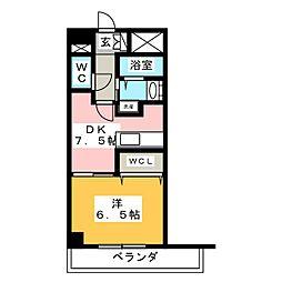 カスタリア新栄II[10階]の間取り