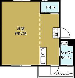 港住吉住宅南館[2階]の間取り
