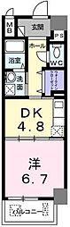 グランブル3[6階]の間取り