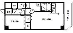 メゾンカジサン[3階]の間取り