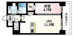 Osaka Metro御堂筋線 東三国駅 徒歩5分の賃貸マンション 1階1LDKの間取り