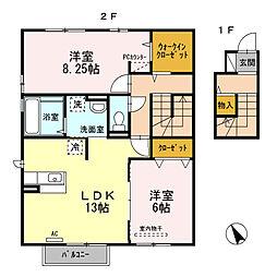 ルーエ III棟[2階]の間取り