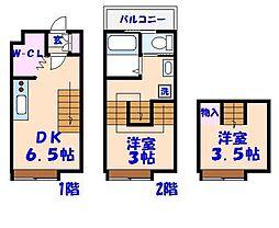 キャリコハウス1[114号室]の間取り