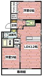 広島県広島市安佐南区長楽寺1丁目の賃貸アパートの間取り