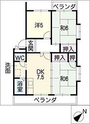 パラシオン平成[3階]の間取り