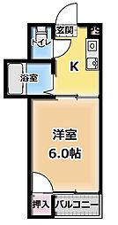 ツーステーションB[3階]の間取り