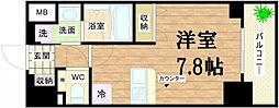 アスヴェル心斎橋東ステーションフロント[8階]の間取り