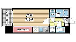 アーデンタワー神戸元町[407号室]の間取り