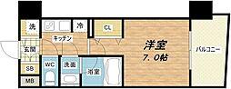 セイワパレス梅田茶屋町[7階]の間取り