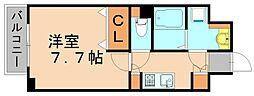 エステムプラザ天神イーストプレミアムタワー[8階]の間取り