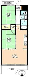 アシスト長野マンションIII[2階]の間取り