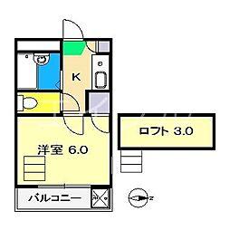 アムール新本町[1階]の間取り