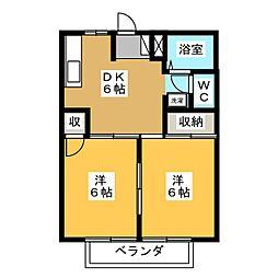 住吉ホーム A[2階]の間取り