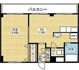 モリトマンション[5階]の間取り