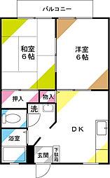 サンシティ川崎II[1階]の間取り