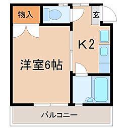 奈良橋ハイツ[2階]の間取り