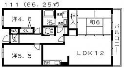 ゑびす若林[103号室号室]の間取り