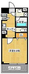 トゥールロワイエ北梅田[2階]の間取り