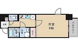 Osaka Metro四つ橋線 肥後橋駅 徒歩3分の賃貸マンション 7階1Kの間取り