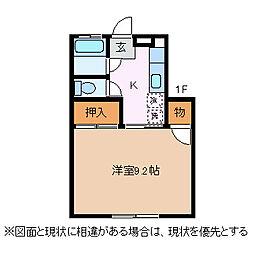 ハッピータウン8[1階]の間取り