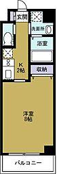 エグゼ大阪BAY[2階]の間取り