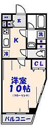 コンフォート八幡[2階]の間取り