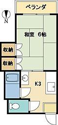 シルクロードマンション[303号室]の間取り