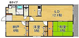 パークピア末広[3階]の間取り