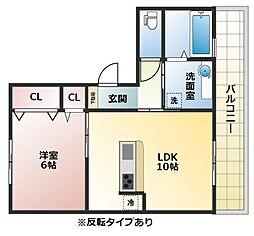 セジュール東太子[2階]の間取り