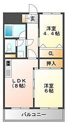 コアロード桃山台[1階]の間取り