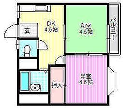 ペントハウス11[1階]の間取り