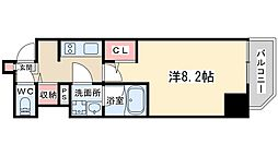 Osaka Metro谷町線 東梅田駅 徒歩5分の賃貸マンション 12階1Kの間取り
