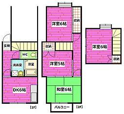 [テラスハウス] 広島県広島市安芸区船越2丁目 の賃貸【/】の間取り