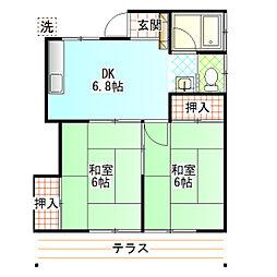第二三高荘[101号室]の間取り