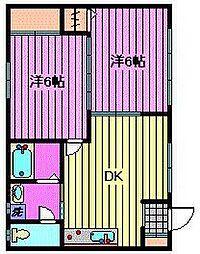 サンシャイン1(サンシャイン角田)[102号室]の間取り