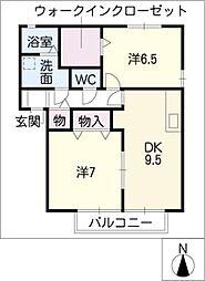 ソレイユA棟[2階]の間取り