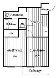 107セゾン[8階]の間取り