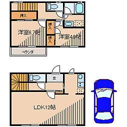 [タウンハウス] 東京都町田市金井4丁目 の賃貸【/】の間取り