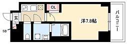 エスリード新栄デュオ 2階1Kの間取り